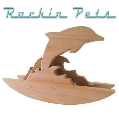 Rocking Dolphin Wood Jumping Dolphin And Wave