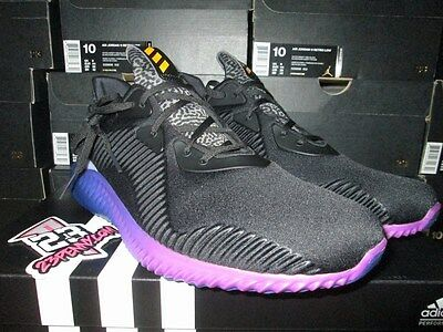 b61468d06746f SALE NEW Adidas ALPHABOUNCE Alpha bounce M Black Purple Gold B42351 BOOST