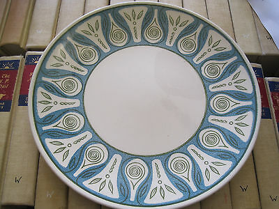 """VTG 1950'S Taylor Smith&Taylor Ironstone BLUE/WHITE 10.5"""" Dinner BLUE MOON Plate"""