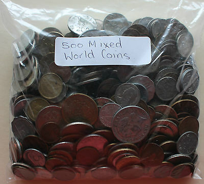500 Mixed World Coins