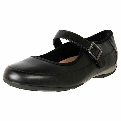 New Hush Puppies Women's Leather Comfort Mary Jane Work Duty Shoes Chilli Cheap