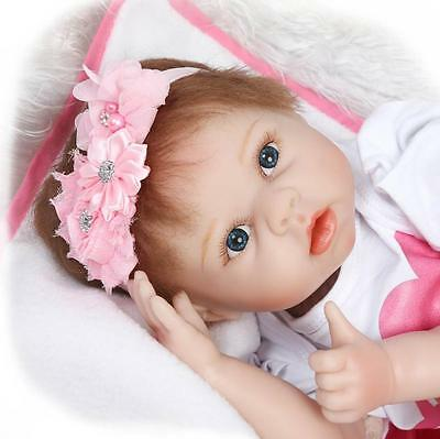 "New 22"" Handmade Reborn Baby Newborn Doll Lifelike Real Looking Toys For kids"