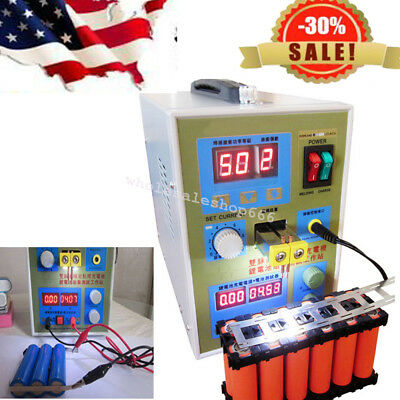 USA LED Dual Pulse Spot Welder 18650 Battery Charger 800A 0.1-0.2 mm + Free gift