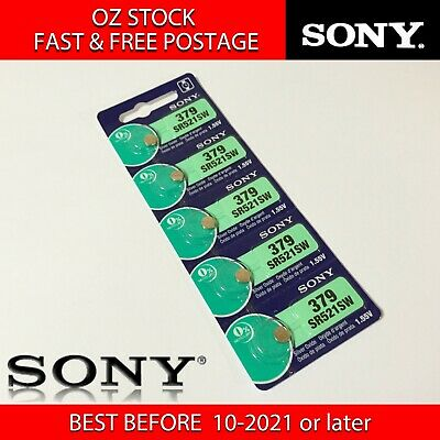 5x SONY SR721SW 362 1.55v Button Coin Cell Silver Oxide Battery Watch FAST POST