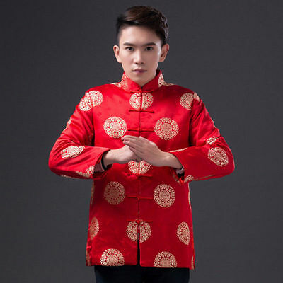 New Traditional Chinese Festive Wedding Shirt Brocade Tang Suit Free Shipping