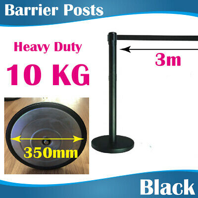 3M Black Retractable Barrier Post Crow control barriers Queue Stand Barrier