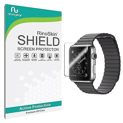[6-PACK] Apple Watch 42mm Screen Protector RinoGear Military-Grade Shield