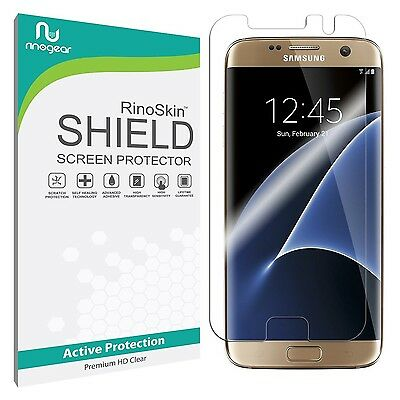 Samsung Galaxy S7 Edge Screen Protector RinoGear Military-Grade Shield Edge2Edge