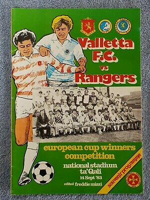 1985 - VALETTA v RANGERS PROGRAMME - FRIENDLY