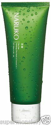NARUKO TEA TREE PURIFYING CLAY MASK & CLEANSER IN ONE 120g