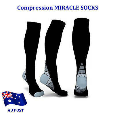 Compression MIRACLE SOCKS for Aching Feet, Varicose Veins, Flight, Travel BO