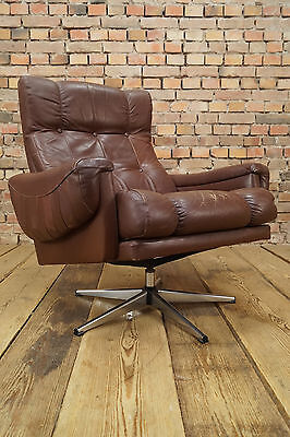 Vintage Leder Sessel true Mid Century Design 60er Patina Lounge Relax Easy Chair