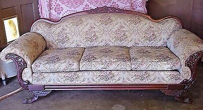 Antique Victorian Empire Sofa