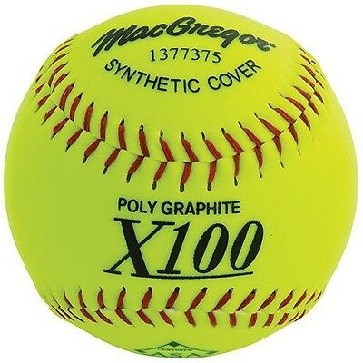 MacGregor X52RE ASA Slow Pitch Synthetic Softball, 30cm , Pack of 12. Delivery i
