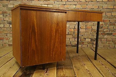 Mid Century Desk Walnut Wood 60s Vintage Desk 60er Danish Modern Design