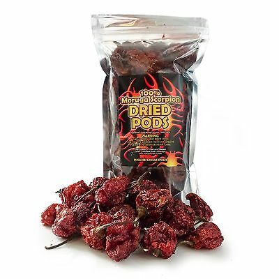 Trinidad Moruga Scorpion Dried Pods - 2nd Worlds Hottest Chilli 10g