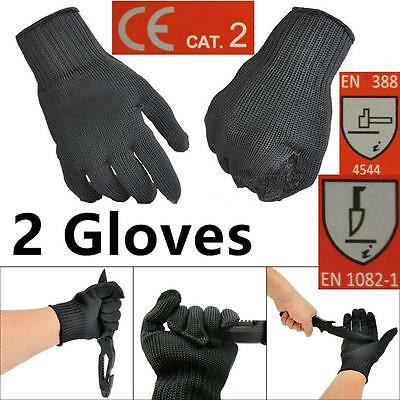2X Cut Fillet Metal Mesh Butcher Anti-cutting Breathable Stainless Steel  Gloves