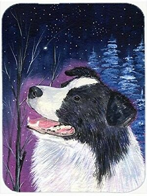 Caroline's Treasures SS8369LCB Starry Night Border Collie Glass Cutting Board,