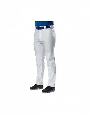 (Medium, White Navy) - A4 Youth Pro Style Piped Baggy Baseball Pants. Brand New