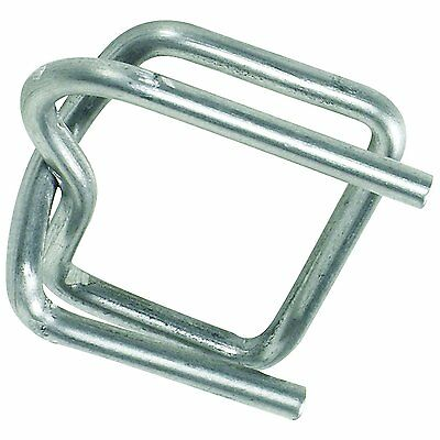 BOX USA BPS12BUCK Wire Poly Strapping Buckles, 1/2', Silver Pack of 1000