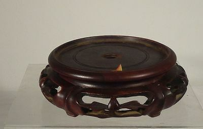 Antique Chinese Carved Hardwood Base or Stand Mahogany Teak Rosewood