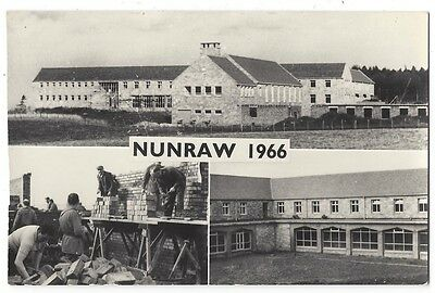 NUNRAW ABBEY East Lothian Construction 1966, RP Postcard Postally Used 1967