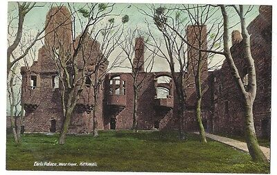 ORKNEY Kirkwall, Earl's Palace West Front, Old Postcard by Valentine, Unused