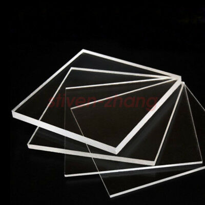 1/4'' x 12'' x 12'' Transparent Acrylic Plexiglass Sheet Replacement Glass