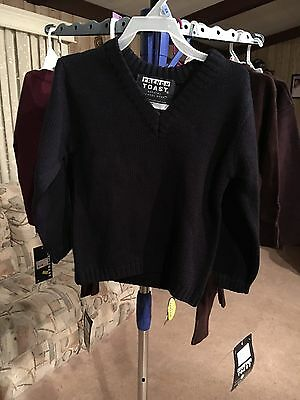 Boys French Toast Size 4 Navy Blue Pull Over Sweater New With Tags