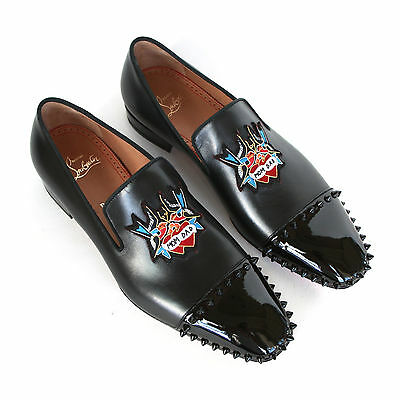 64e6ba0d9613 CHRISTIAN LOUBOUTIN mens studded captain daddy loafers spike stud shoes 41 8  NEW