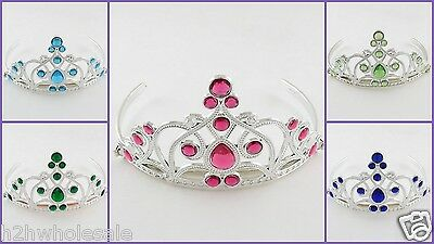 Princess Crown Tiara Childrens Girls Pink,Blue,Aqua,Green SLIGHT SECONDS UK