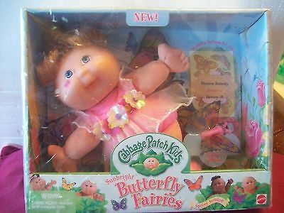 "Cabbage Patch Kids Butterfly Fairies ""shannen Butterfly""  New In Box"