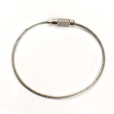 2 Stainless Steel Wire Key Chain Rings