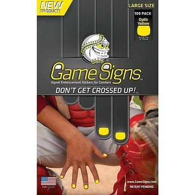 Game Signs Catcher Signal Enhancement Stickers, Large, Optic Yellow. Delivery is