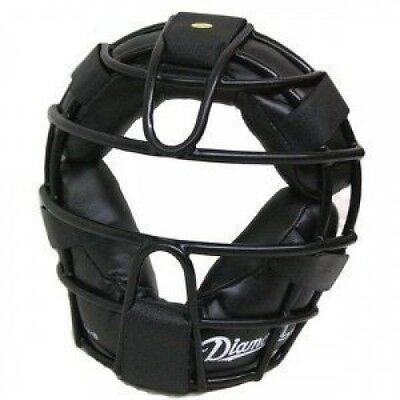 Diamond DFM-12 Baseball Catcher's Face Mask Protector Black w/Straps. Best Price