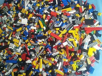 Genuine Lego 1kg-1000g Mixed Bundle Of Lego Bricks Parts Pieces Bulk Job Lot