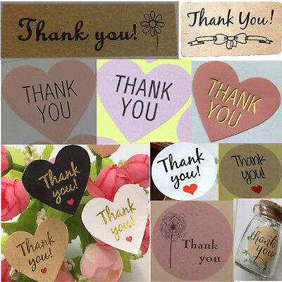 Thank You Sticker Labels Seals Craft Wedding Favours Toppers. Choice of Stickers