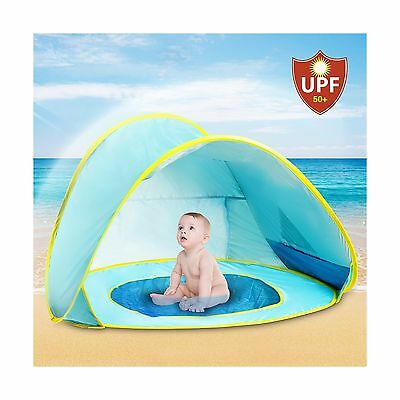 UV Protection Baby Beach Tent with Pool | Pop Up Sun Canopy Shelter | Kiddie ...