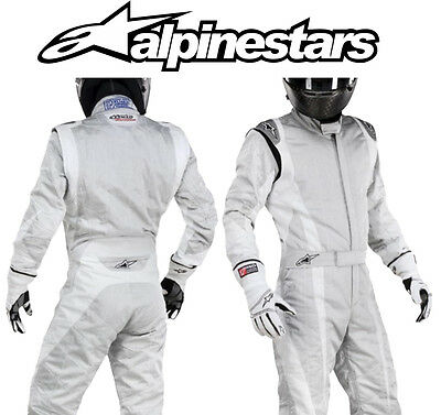 Alpinestars Super Tech Race Suit, FIA Approved 3-Layer Silver - EU44 Oval/ Rally