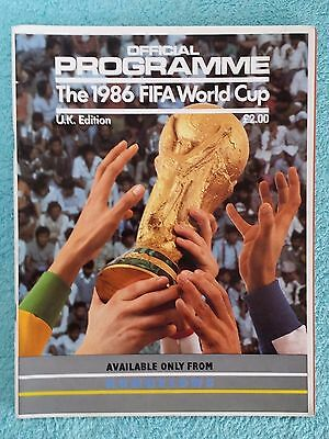1986 - Official World Cup Tournament Programme - Uk Edition