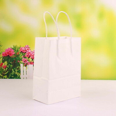 50 Pezzi Sacchetto Borsa Carta Kraft Wedding Bag Naturale Misura Media 27*21*11