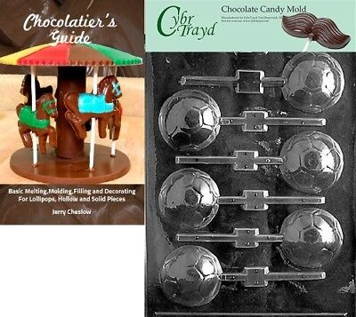 Cybrtrayd Soccer Ball Lolly Sports Chocolate Candy Mould with Chocolatier's