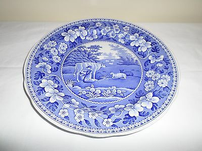 "Spode Blue Room Collection 'MILK MAID' 10"" DINNER PLATE Made in England"