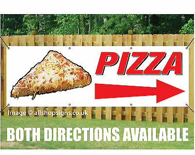 PIZZA DIRECTION ARROW BANNER SIGN WATERPROOF OUTDOOR waterproof with Eyelets