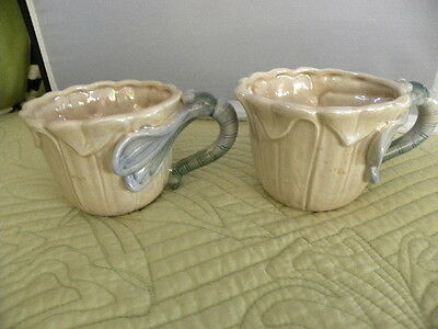 Two Vintage Fitz and Floyd Art Nouveau  Hand painted cups  $29.90