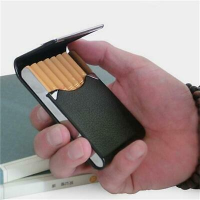 New Pocket Leather Cigarette Case Holder Tobacco Smoking Box Holder LA