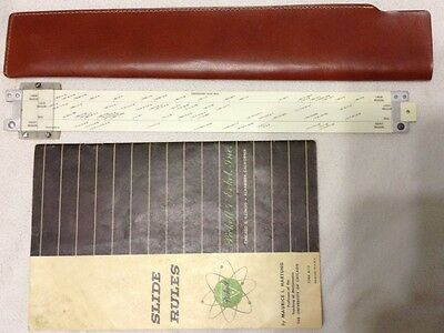 Pickett Slide Ruler N903-T with leather case and book VGC