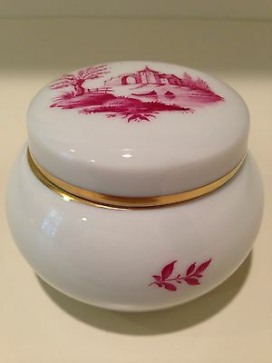 Hochst Hand-Painted Porcelain Covered Box Made in Germany New