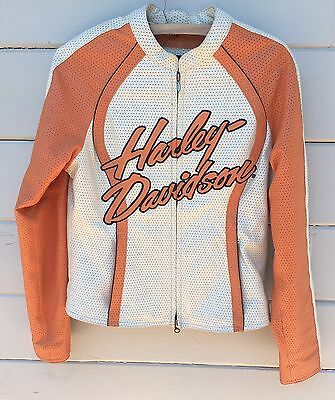 Harley Davidson Women's Leather cream cycle limited edition Jacket Size M