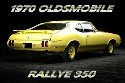 1970 Oldsmobile Cutlass Rallye 350 Coupe, Refrigerator Magnet, 40 MIL Thick